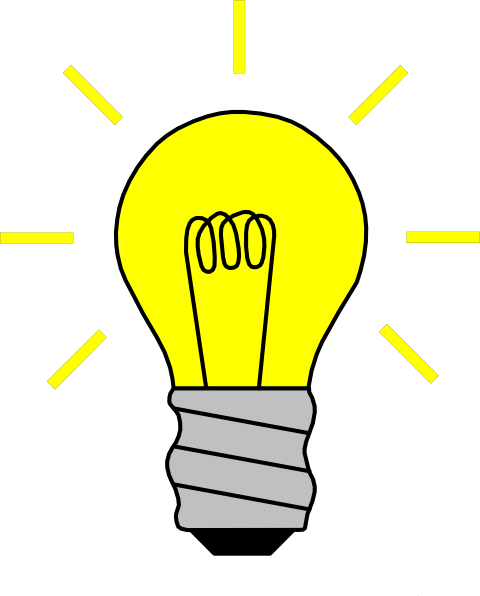 Light bulb on clip. Lights clipart lighting picture freeuse