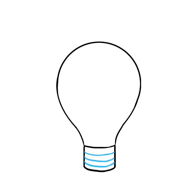 Bulb drawing plant. How to draw a