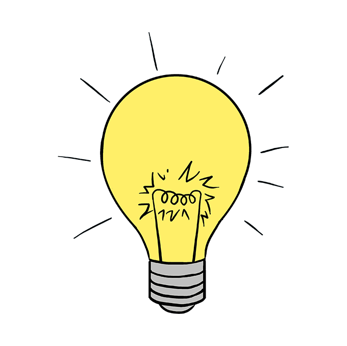 Bulb drawing. How to draw a