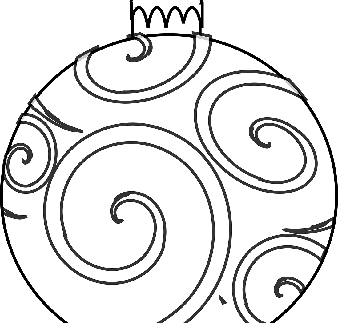Drawing scrolls christmas list. Ornament line at getdrawings
