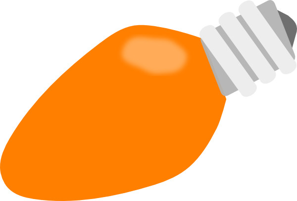 vector orange light bulb