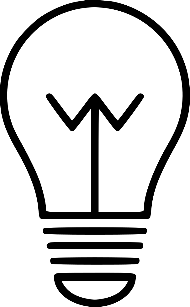 Bulb drawing creative. Energy idea lamp light