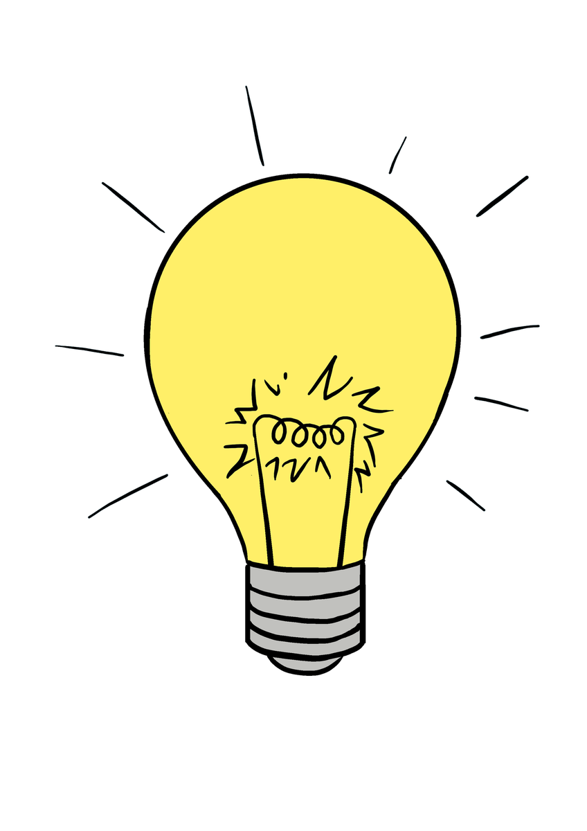 Guides on twitter in. Bulb drawing easy clipart freeuse