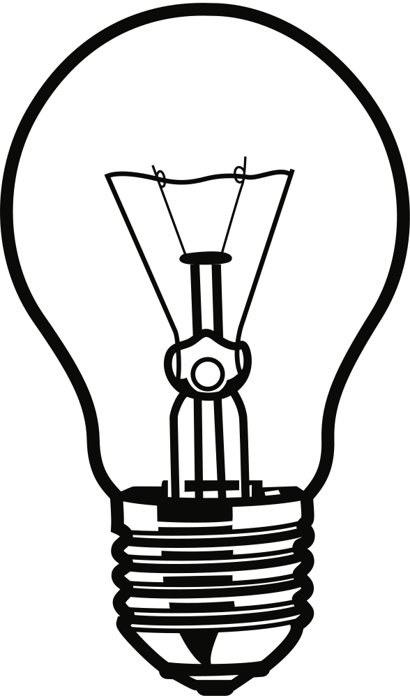 Bulb drawing easy. Onlinelabels clip art light