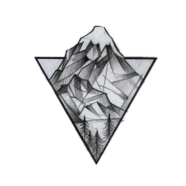 Bulb drawing geometric. Geometry tattoo idea triangle