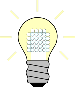 Bulb drawing led light. Incandescent lamp electricity free