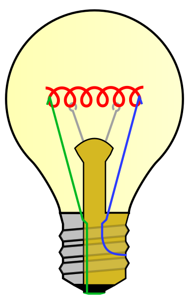 Bulb drawing light. One line google search