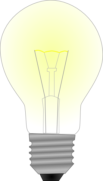 Light clip art at. Bulb drawing realistic svg library library