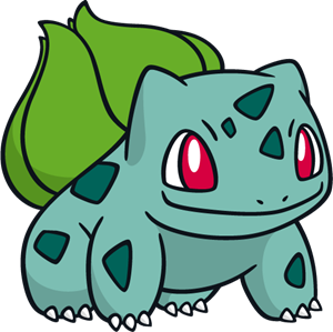 Bulbasaur vector. Pokemon logo eps free
