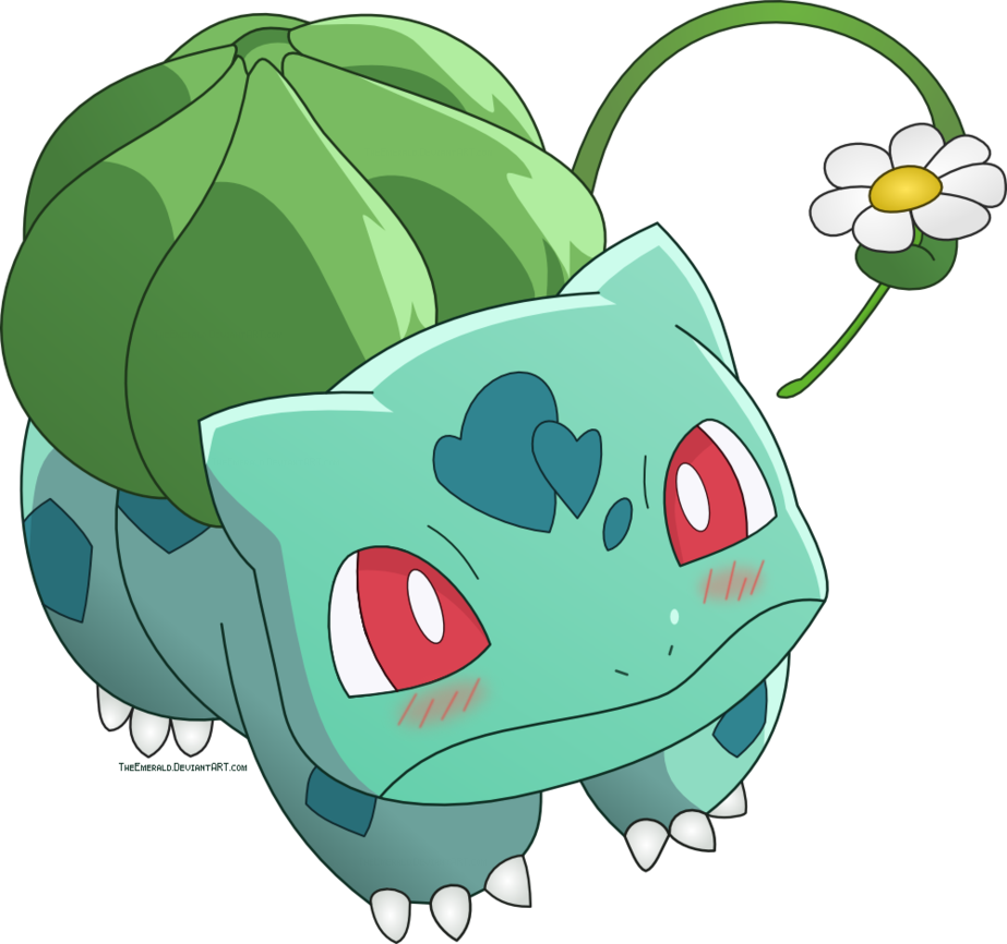 Emerald vector cartoon. Bulbasaur related keywords suggestions