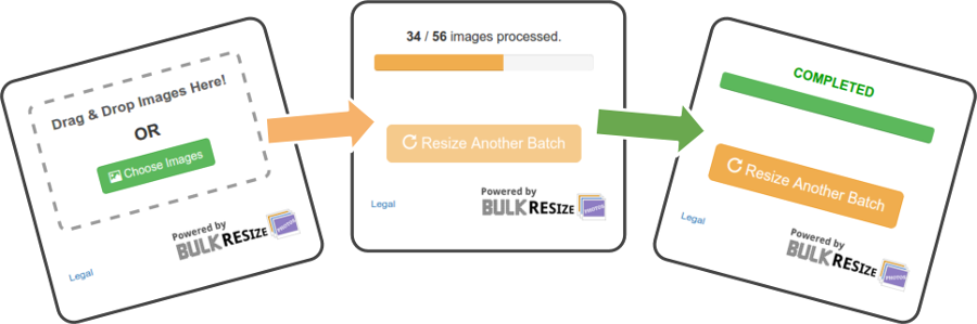 Bulk compress png. Resize photos the widget