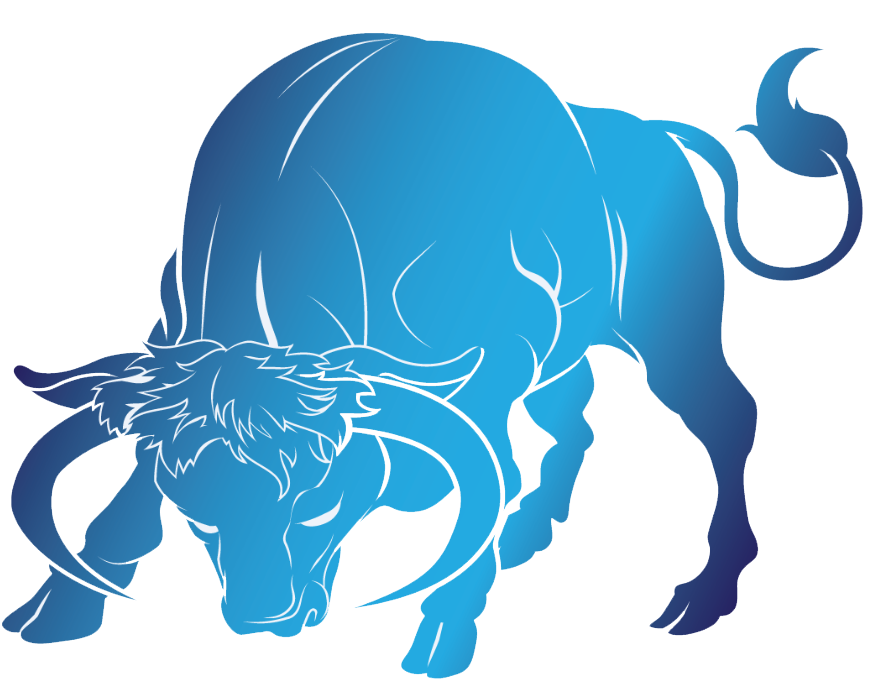 Bull blue png. Taurus images free download
