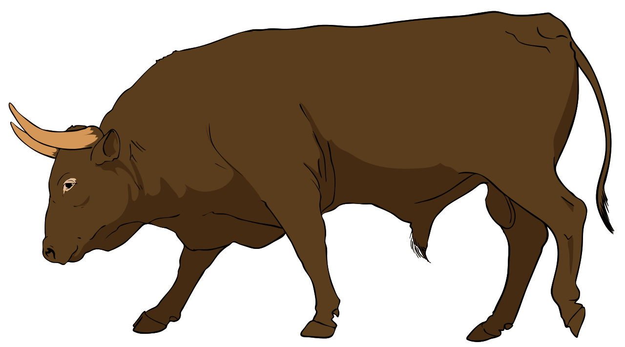 Bull clipart animal. File svg wikipedia filebull
