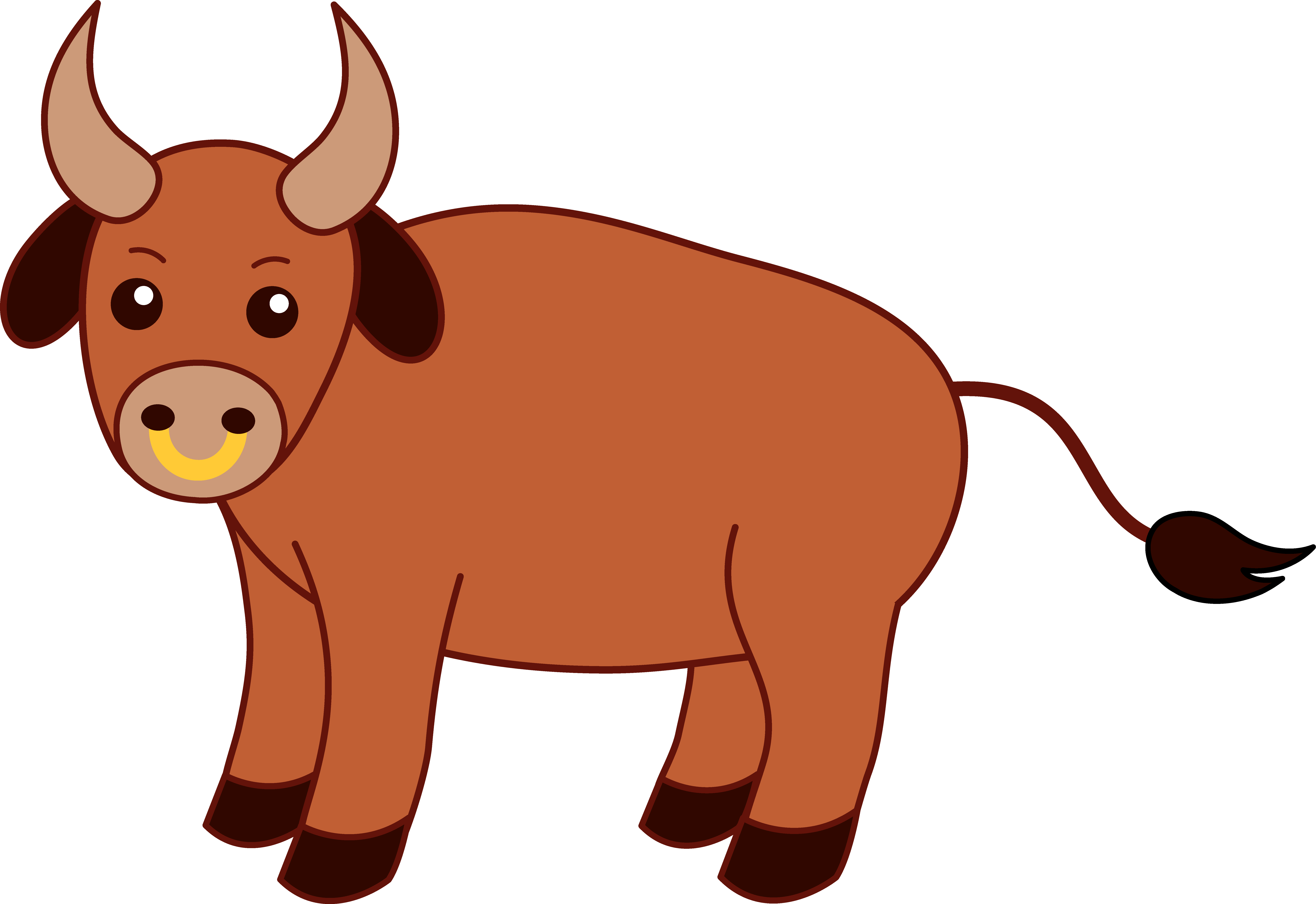 Bull clipart png transparent. Sweet