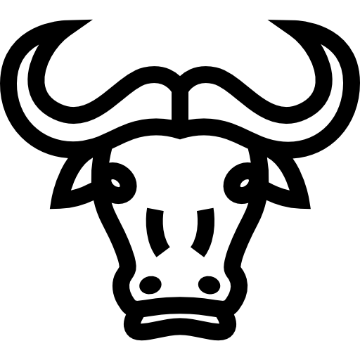 Vector bull mascot. Face with horns icons