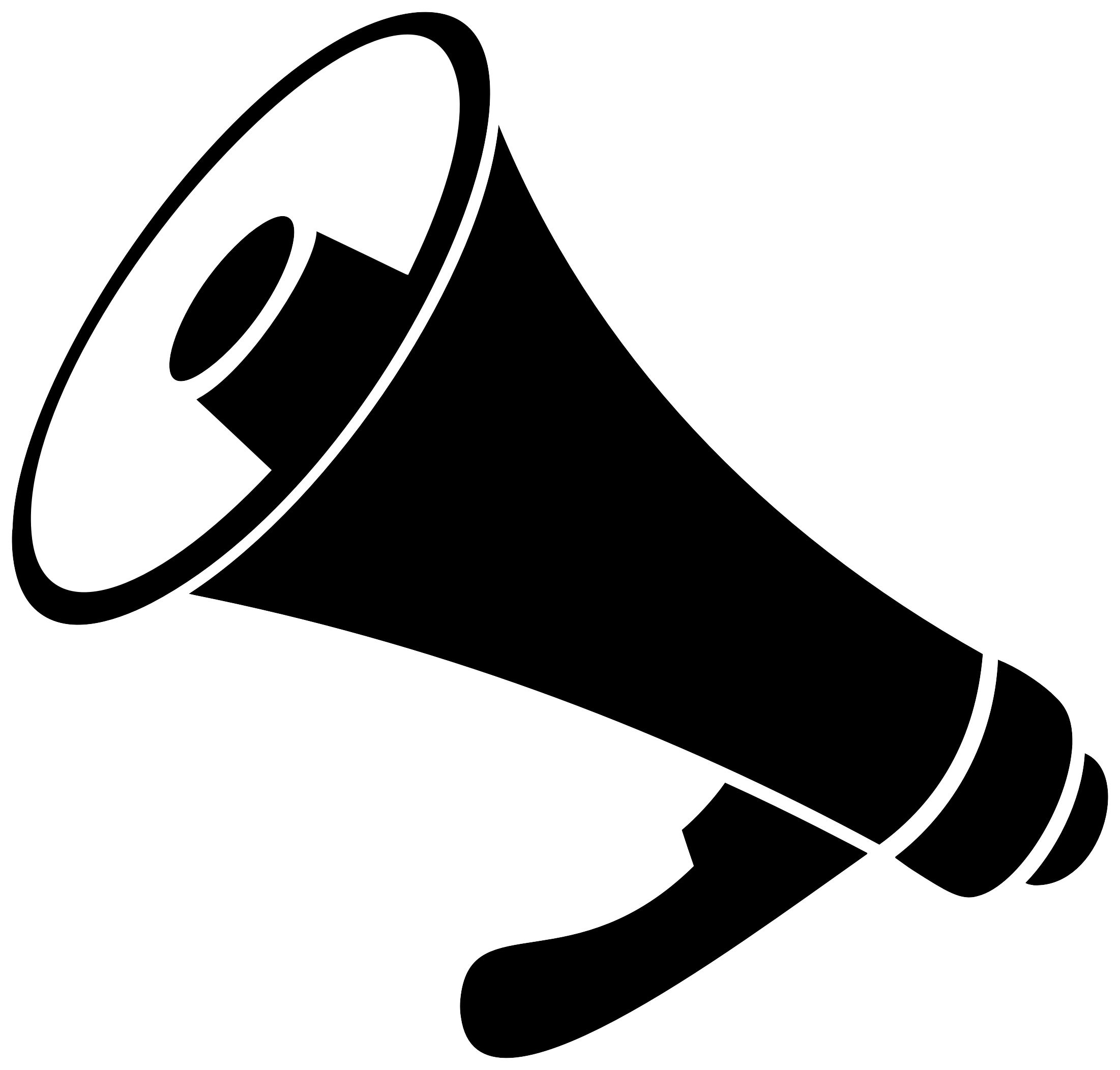 Bullhorn icon icons free. Bull horn png picture free stock