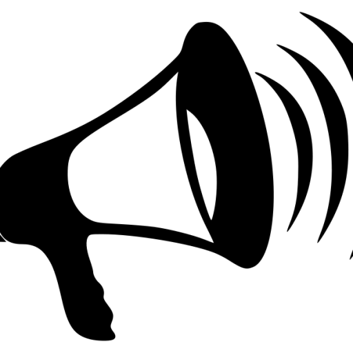 Cropped bullhorn sound voice. Bull horn png vector download