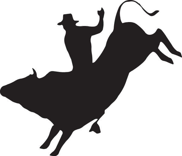 Bull pooping png. Rider silhouette