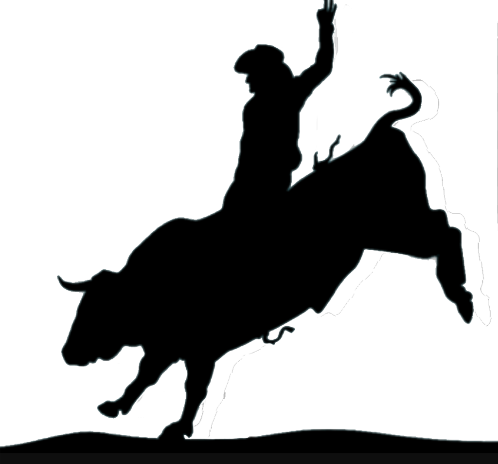 Bull riding png. Silhouette at getdrawings com