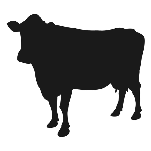 Ox vector silhouette. Cow transparent png svg graphic free library