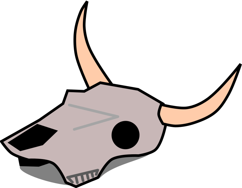 Drawing cow dying. Clipart skull medium image