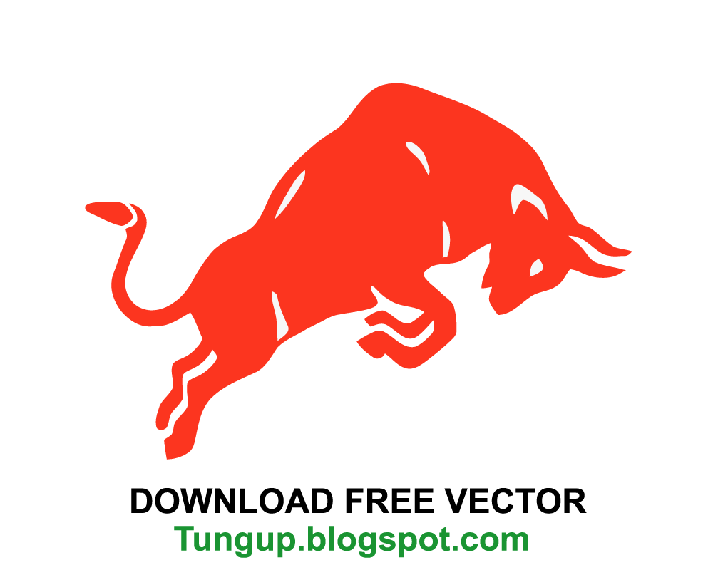 Bull vector png. Free download logo red