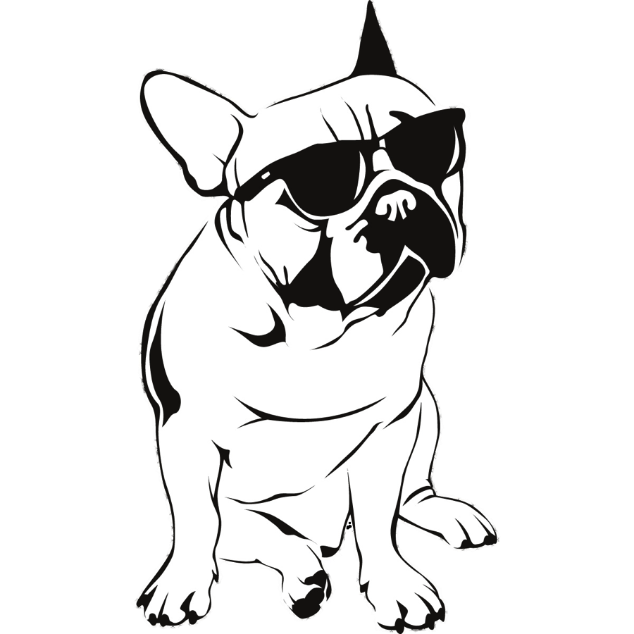 The first international magazine. Bulldog clipart face clip art royalty free stock