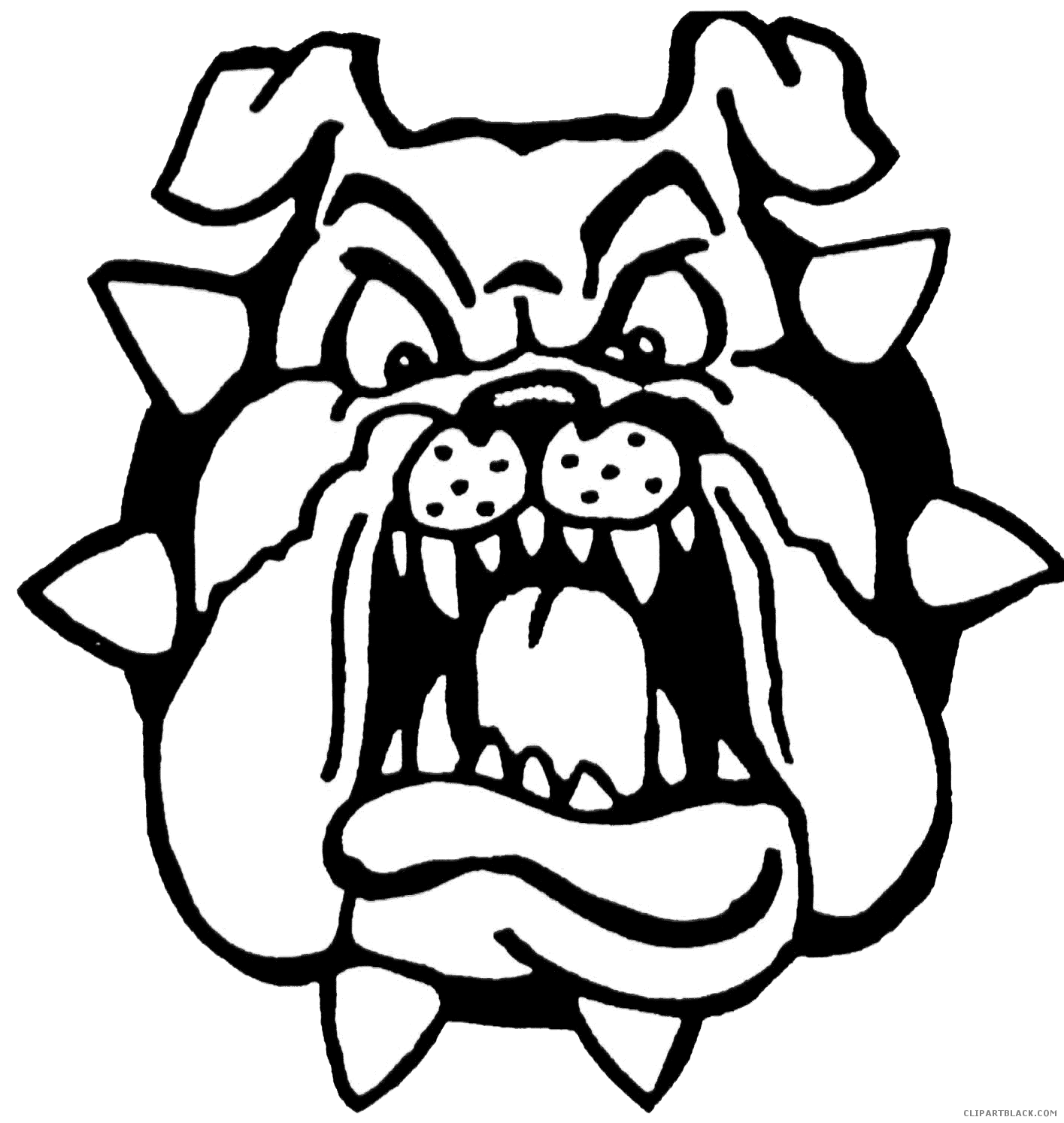 Pin oleh enosart com. Bulldog clipart face vector black and white library