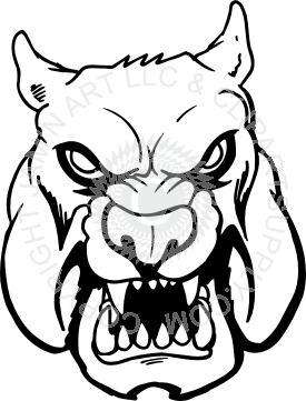 Evil. Bulldog clipart face png black and white library