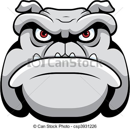 Bulldog clipart face. A cartoon and head png library stock