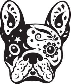 Bulldog clipart skull. Pin by esa tran
