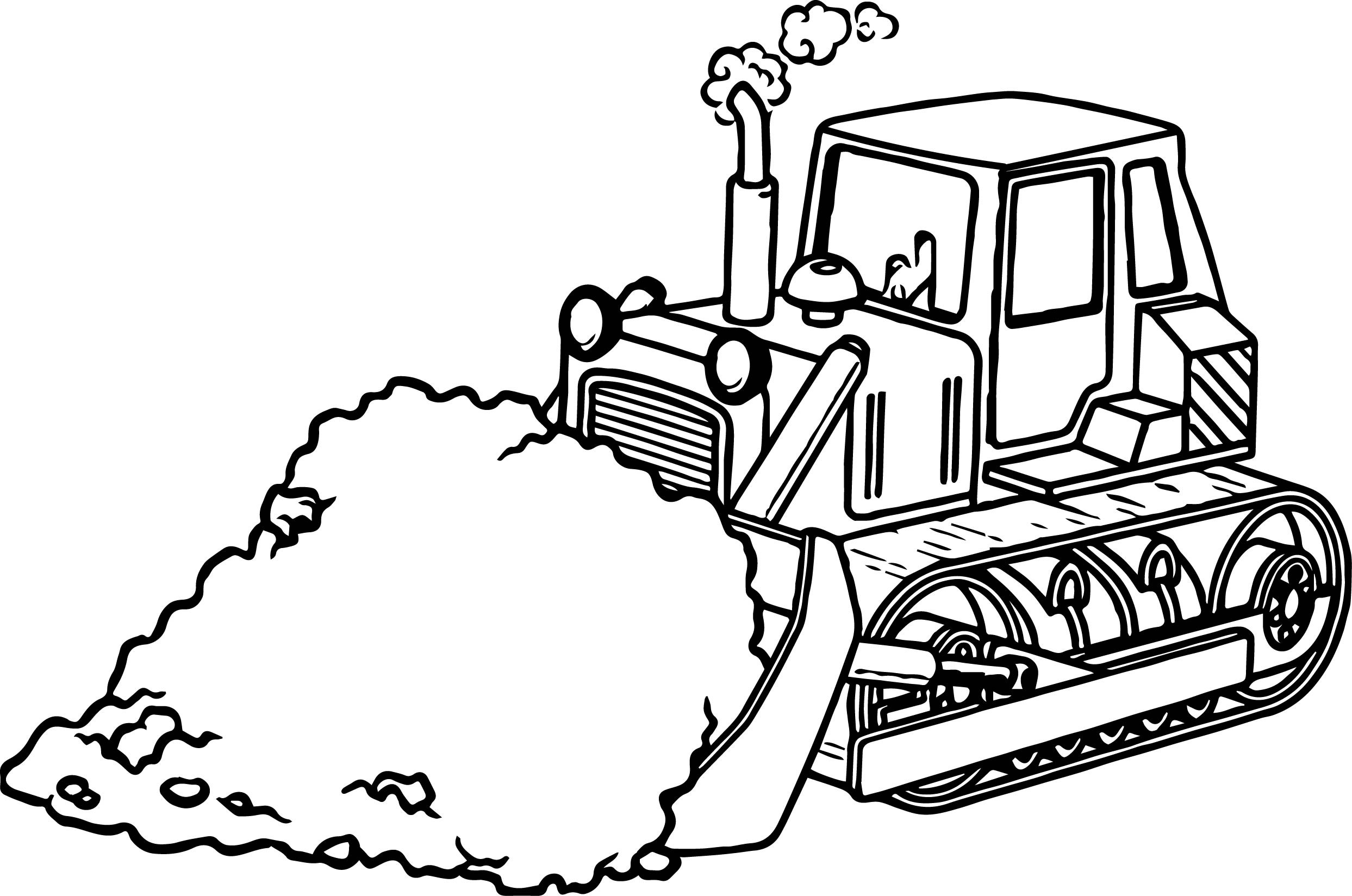 Bulldozer Coloring Page Transparent & PNG Clipart Free