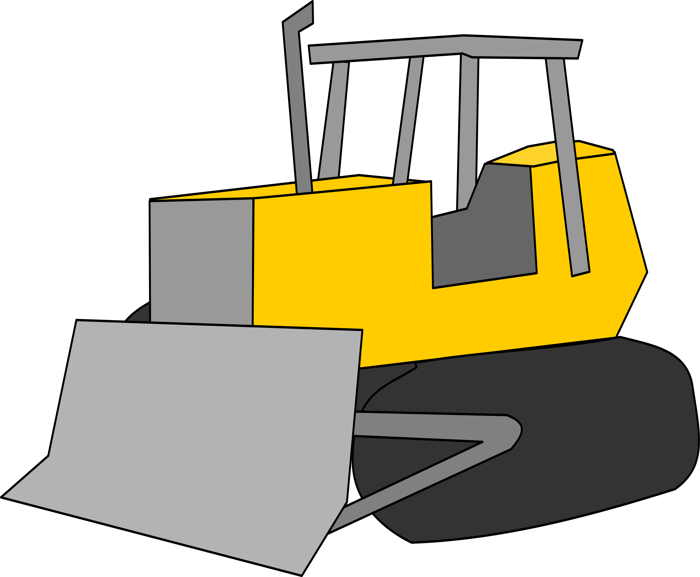 Bulldozer svg simple. Clipart just big image