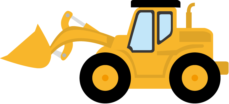 Simple bulldozer drawing at. Backhoe clipart baby svg download