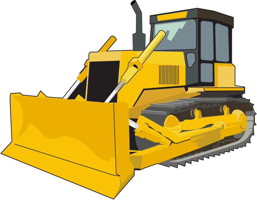 Bulldozer svg animated. Clipart library download