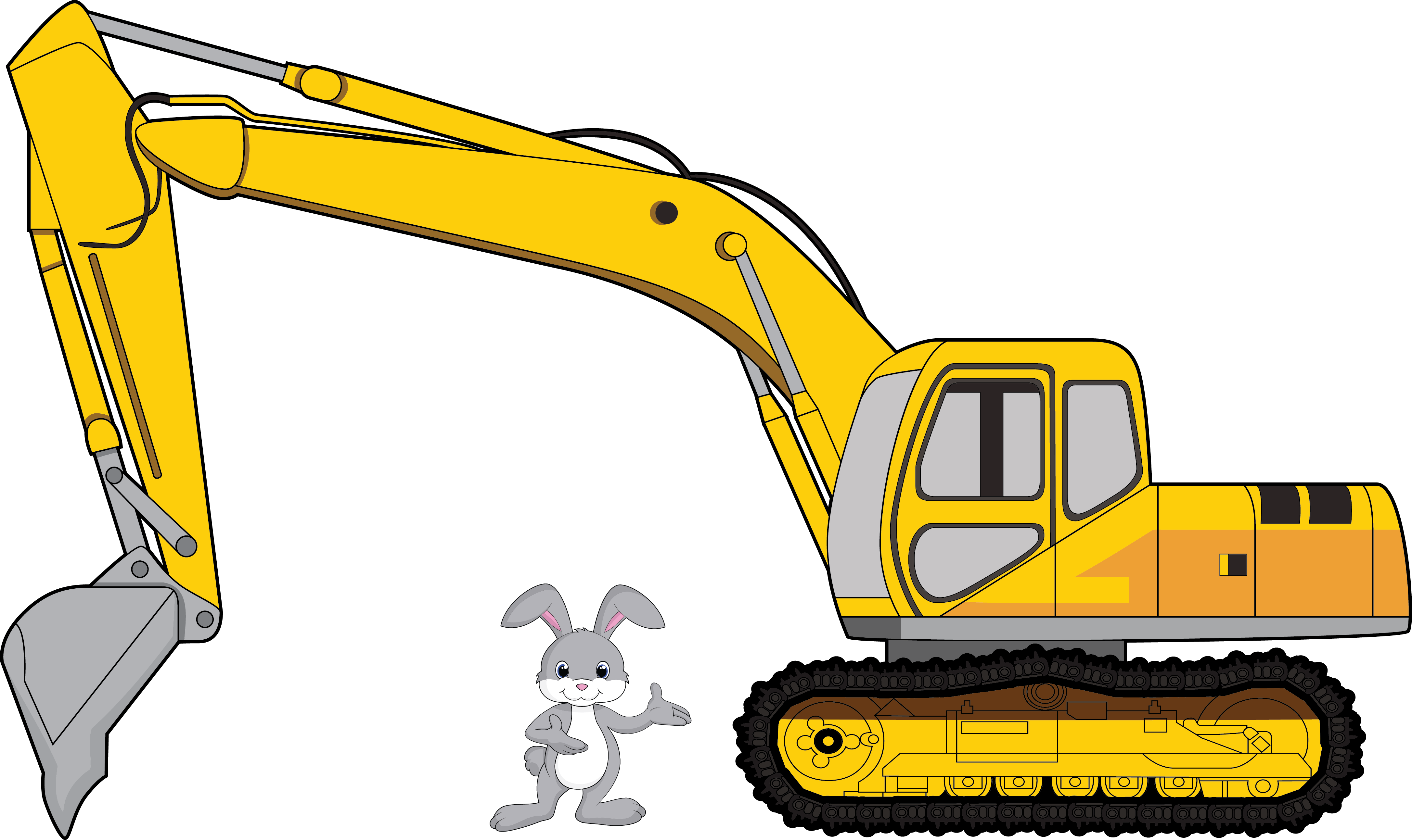 Bulldozer svg cartoon construction. Clipart library download