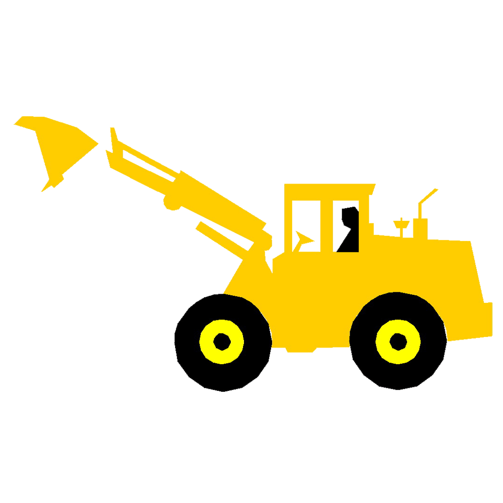 Bulldozer svg cartoon construction. Excavator transparent download