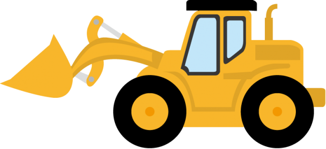 Bulldozer svg cartoon. Clipart library download