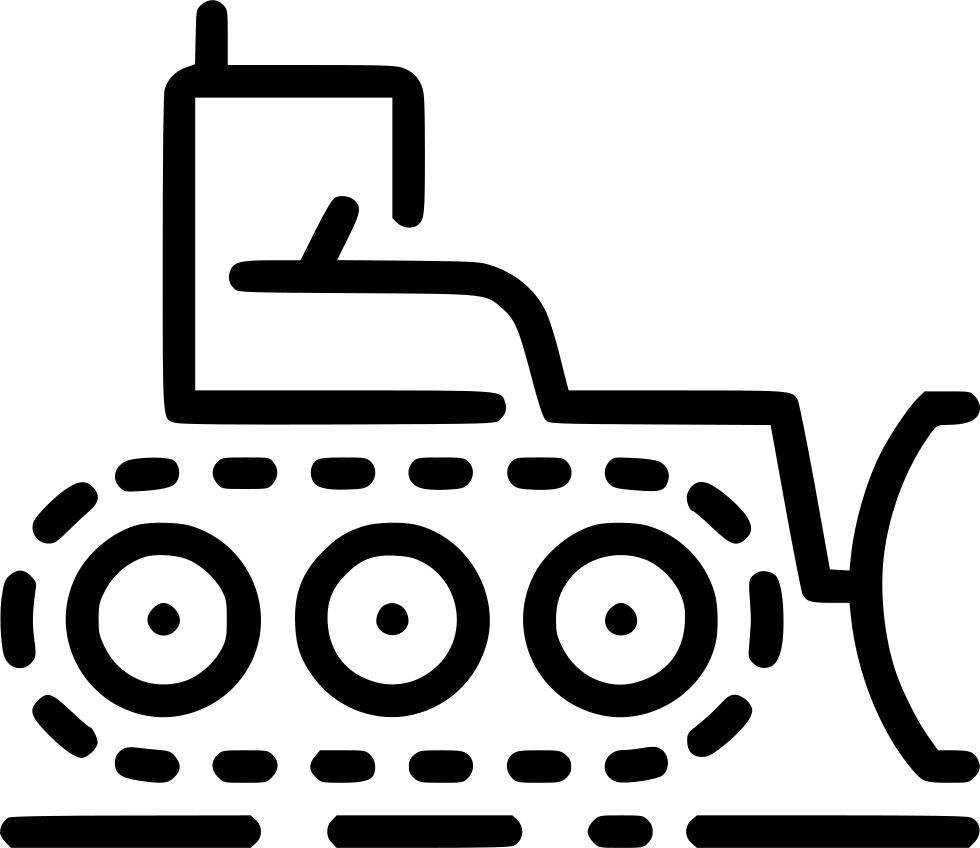 Bulldozer svg file. Png icon free download