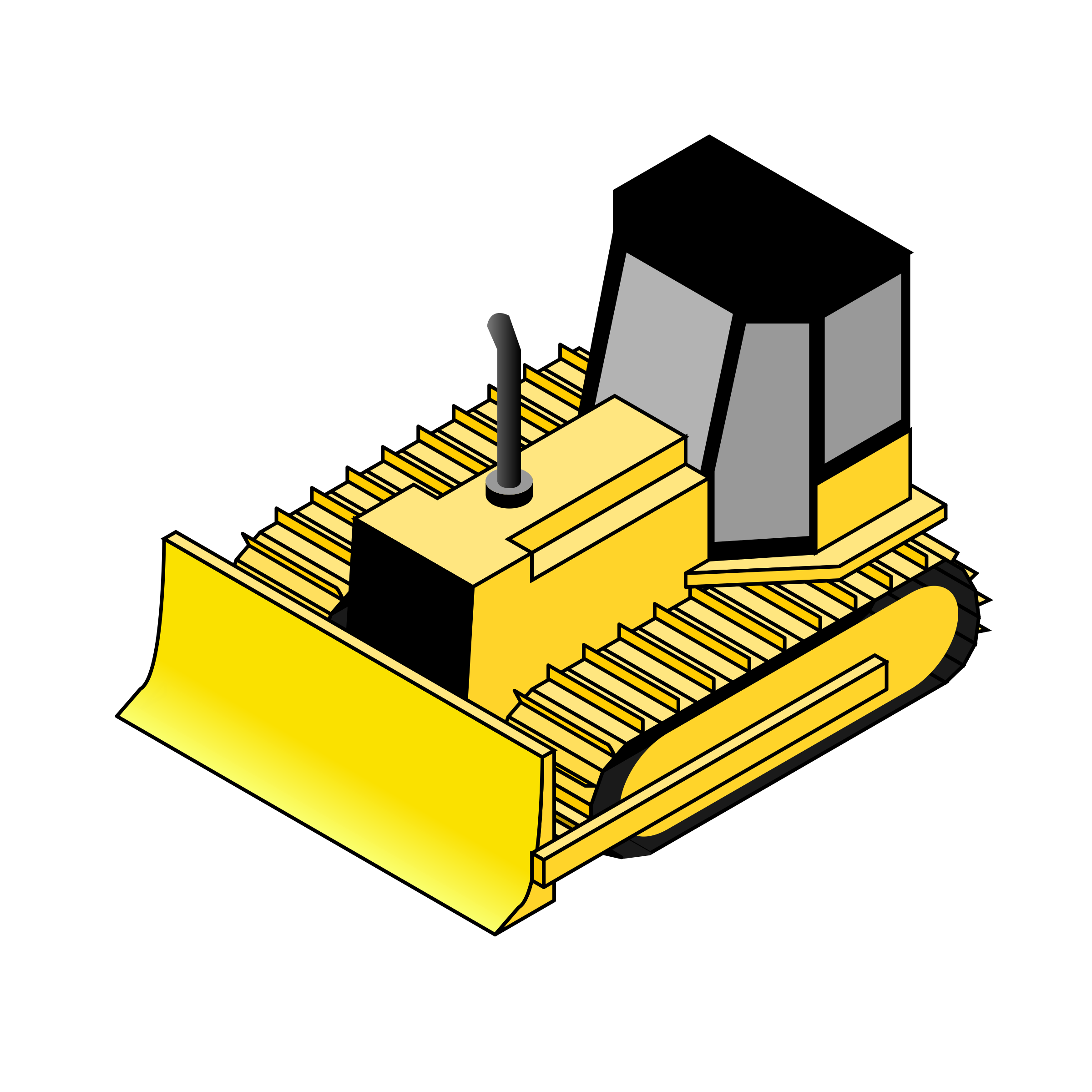 Bulldozer svg simple. Isometric icons png free