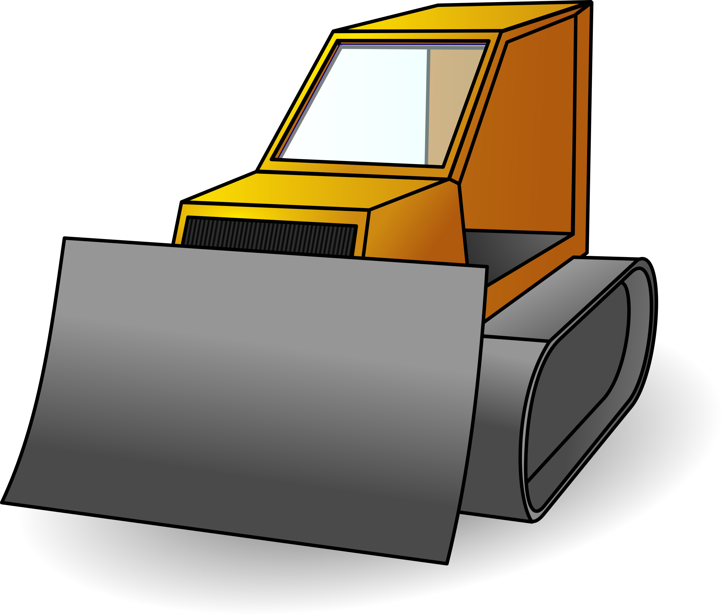 Bulldozer svg simple. Icons png free and