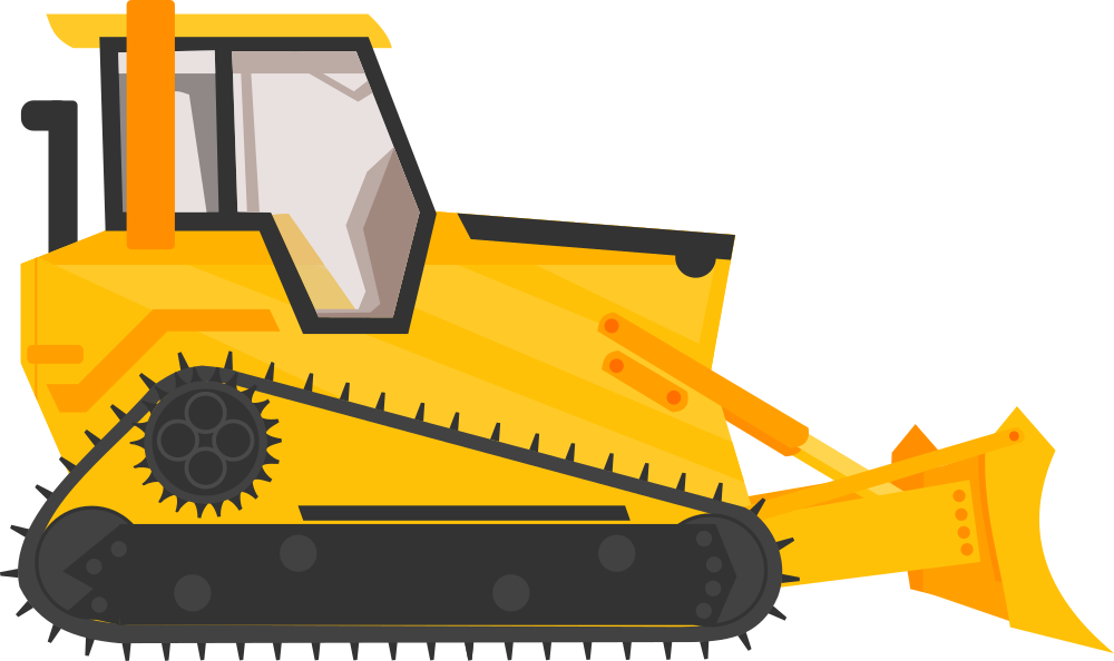 Bulldozer svg simple. Onlinelabels clip art