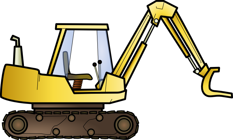 Bulldozer svg simple. Clipart library download