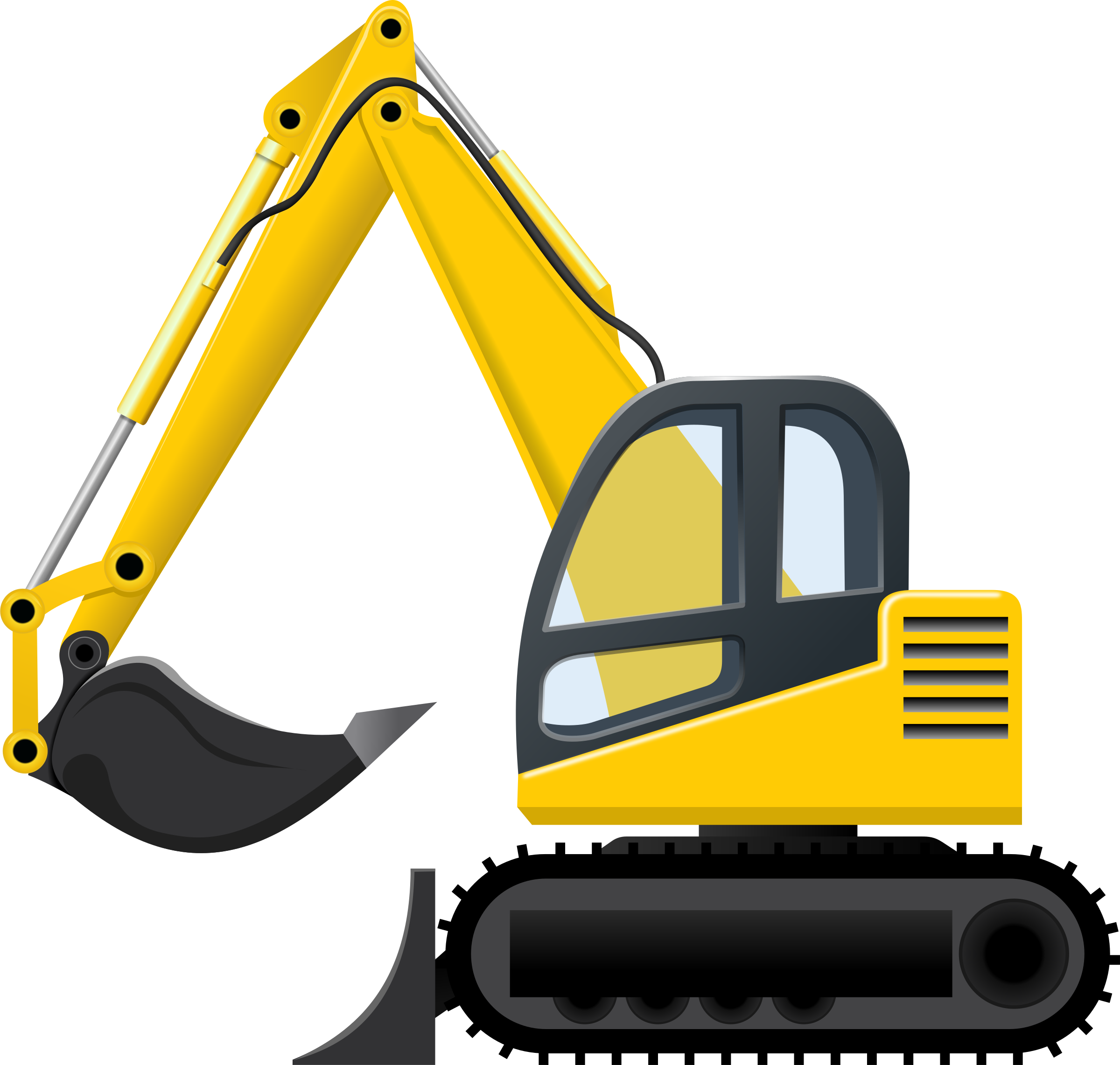 Bulldozer svg transparent. Excavator download huge
