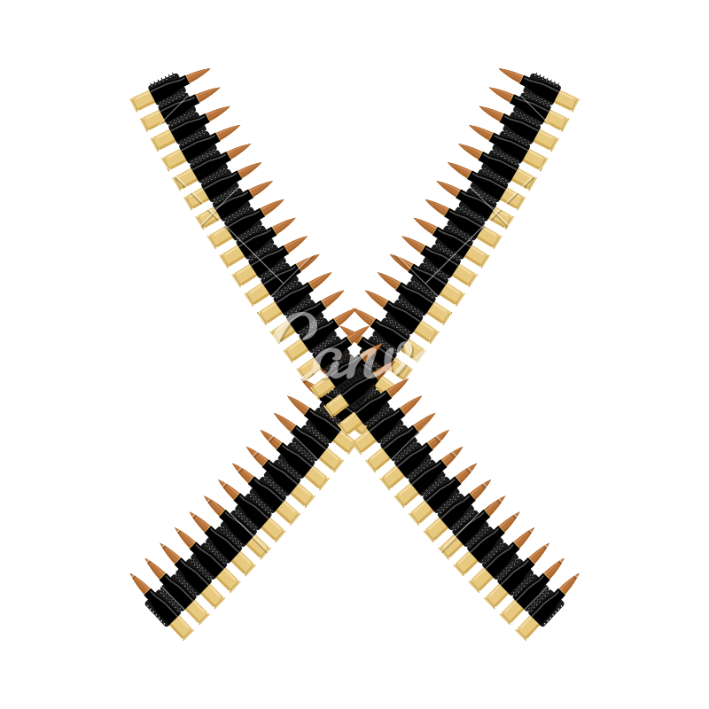 Vector bullet belt. Icons by canva