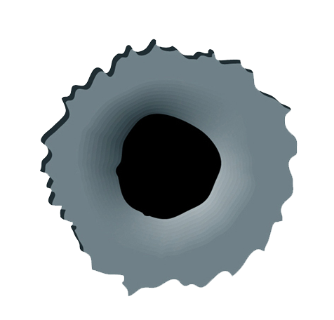 bullet hole in paper png