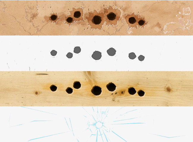 Bullet clipart wood png. Wooden perforated material board