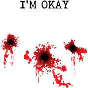 Bloody bullet hole png. I m okay holes