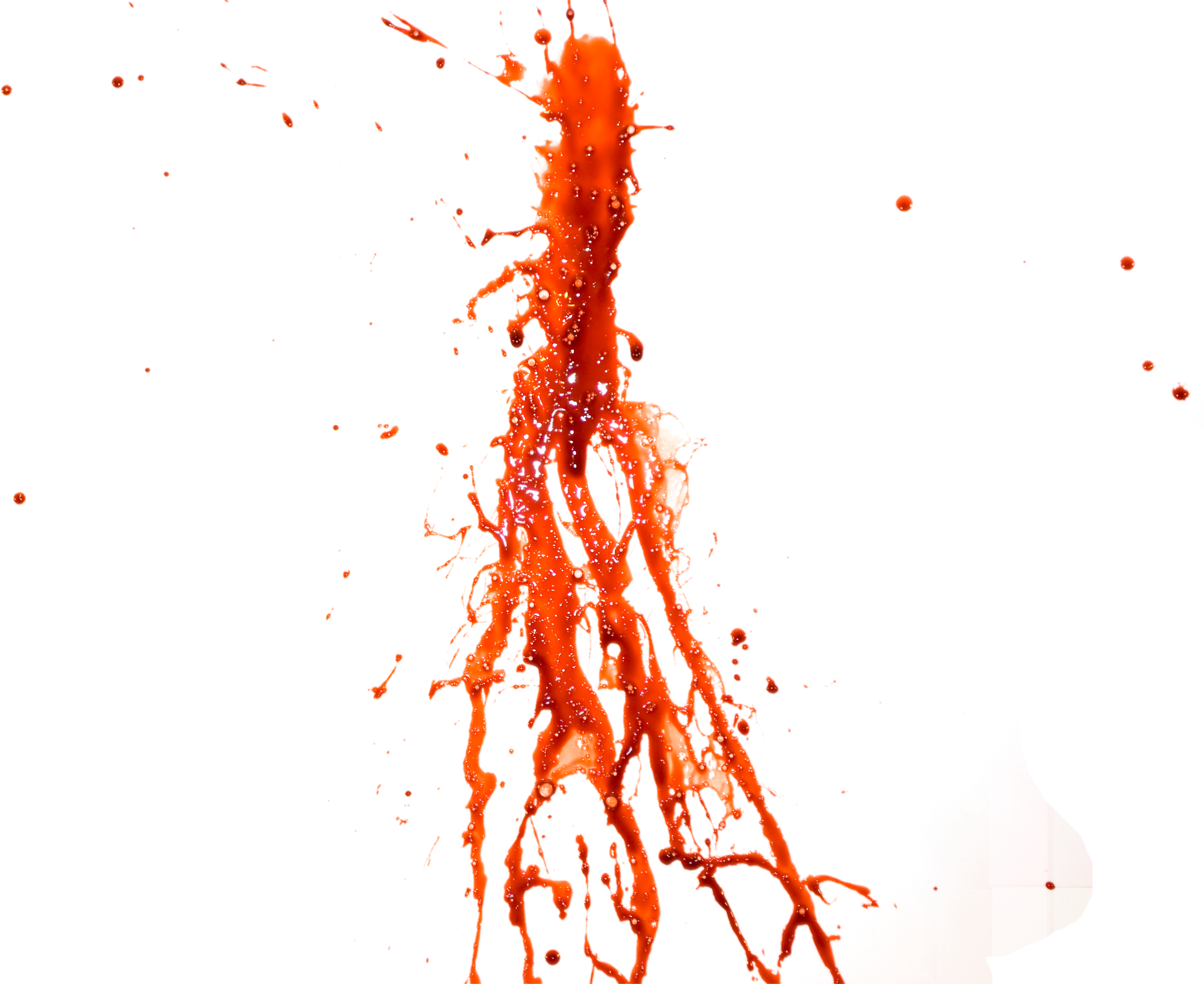 Colorful paint drip png. Blood splatter eighty isolated