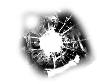 Bullet hole in glass png transparency. Mosaictemplate war booth props
